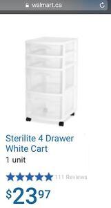 Sterilite 4 drawer cart