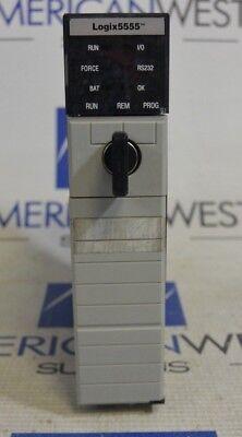 Allen-bradley Controllogix 1756-l55a Processor Unit W 1756-m13a Good