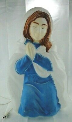 Mary Nativity Blow Mold Outdoor Yard Decor Christmas General Foam Vintage
