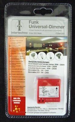 intertechno ITDM-250 Funk Universal-Dimmer 2Draht-Technik f. alle dimmbaren Leuc online kaufen