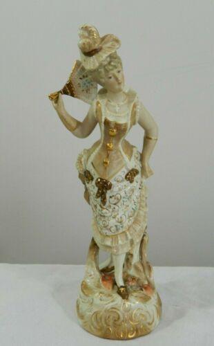 Antique Conta Boehme Porcelain Ceramic Aristocratic Lady Figurine Germany Rare