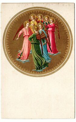 postcard, Group of Angels, Beato Angelico, published by E. Sborgi, Florence, Italy