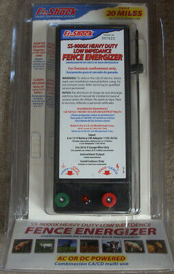 Fi-shock Animal Livestock Containment System Ss-9000x Heavy Duty Fence Energizer