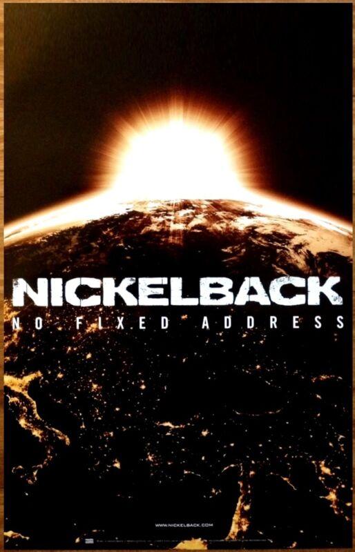 NICKELBACK No Fixed Address Ltd Ed Discontinued RARE Poster +FREE Rock Poster!