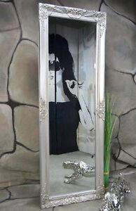 Wandspiegel silber antik barock Flurspiegel Badspiegel 140 x 50 cm