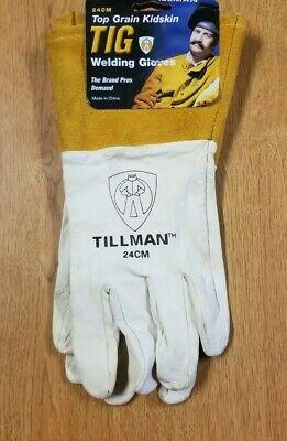 Tillman Welding Gloves 24cm Top Grain Kidskin Leather Tig 4 Cuff Sz Medium New