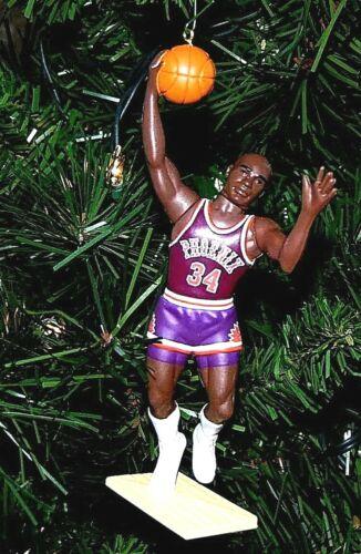 charles BARKLEY phoenix SUNS basketball 34 NBA xmas TREE ornament HOLIDAY jersey