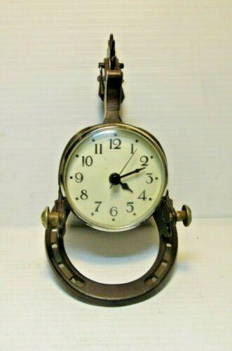 Vintage Spur Desk Clock with Horseshoe