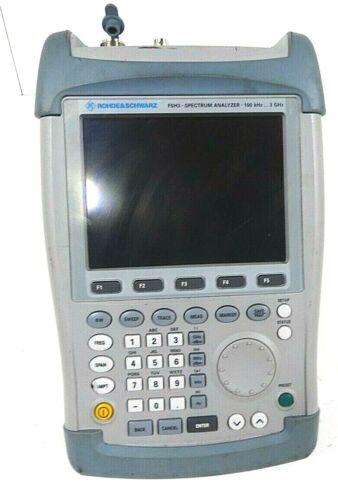 Rohde Schwarz FSH3 Handheld RF Spectrum Analyzer-3GHz  100kh- Free Shipping