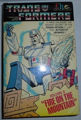 Transformers Fire On The Mountain VHS tape  Volume 8 1984 FHE Optimus Prime