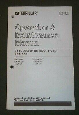 CAT CATERPILLAR 3116 3126 TRUCK ENGINE OPERATION &