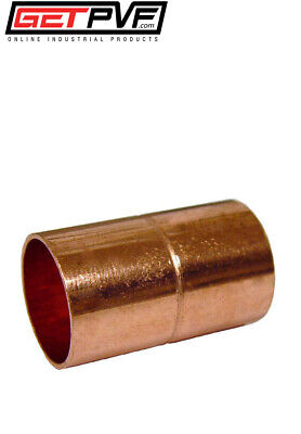 Bag Qty 25pcs 34 Copper Sweat Coupling Rolled Stop New