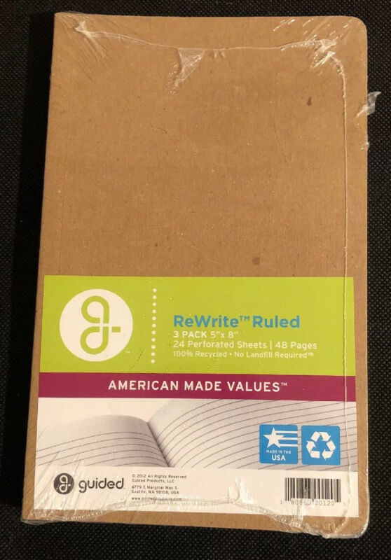 """ReWrite Ruled 3 Pack 5""""x8"""" Perforated Sheets 48 Pages"""