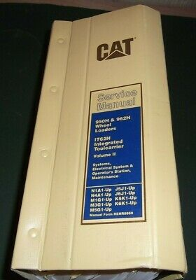 Cat Caterpillar 950h 962h It62h Wheel Loader Service Shop Repair Manual Book V2