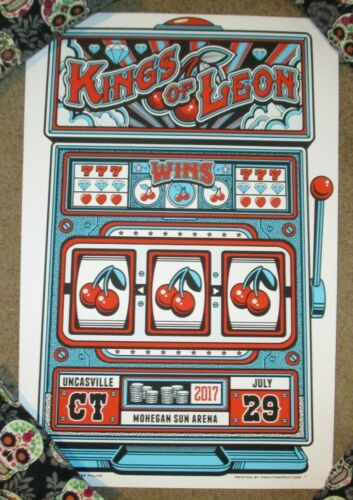 KINGS OF LEON concert gig tour poster print UNCASVILLE 7-29-17 2017 Phillips