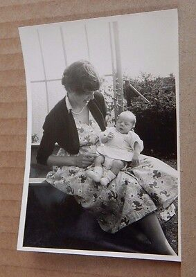 Photograph Social History Mother & Baby Vintage New look fashions 1950's