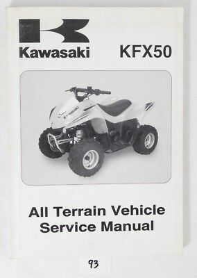 Genuine 07 Kawsaki KFX 50 ATV Quad Service Shop Repair Manual OEM 99924-1370-01