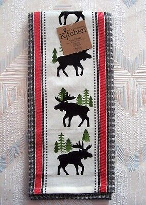 Moose Waffle Tea Towel Simple Living Moose Pattern Kay Dee