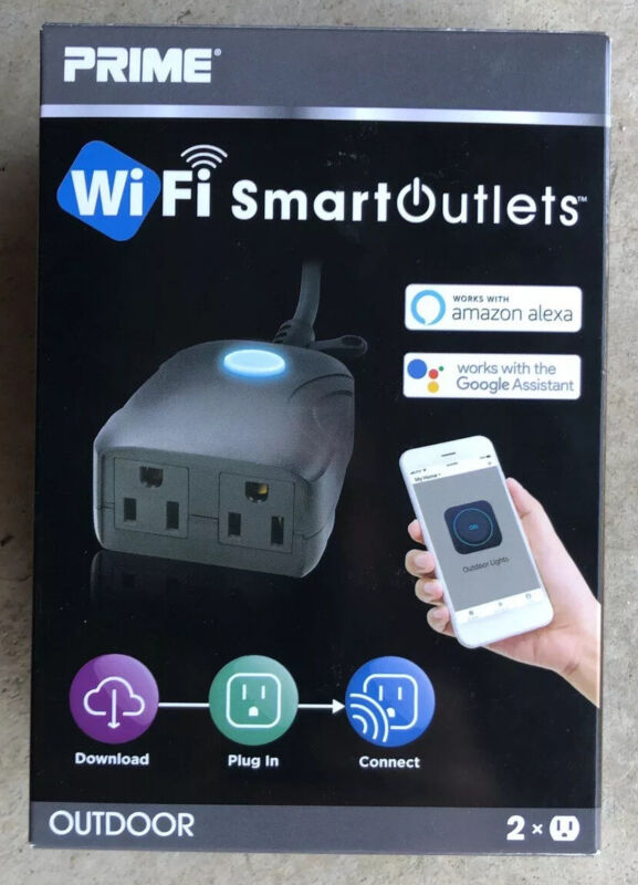 PRIME WIFI SMART OUTDOR OUTLET 2X ~ BRAND NEW ~  FREE SHIPPING~