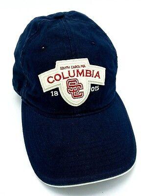 Columbia Cotton Hat - COLUMBIA SOUTH CAROLINA blue 100% cotton adjustable cap / hat