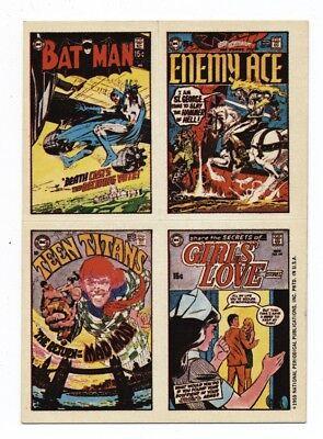 DC COMIC COVER STICKERS 1970 NICE BATMAN ENEMY ACE TEEN TITANS GIRLS LOVE