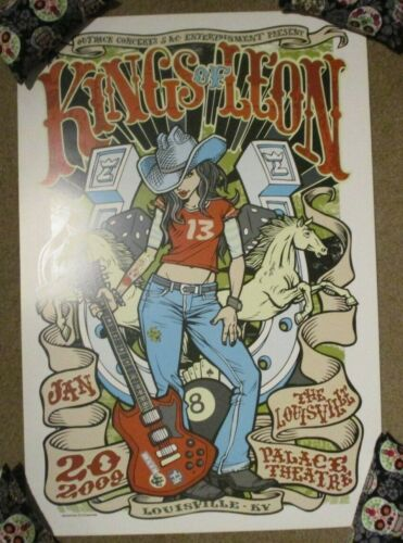 KINGS OF LEON concert gig tour poster print LOUISVILLE 1-20-09 2009 greulich