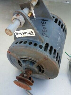 Dexter T400 Front Load Washer Motor 1ph Dexter Pn 9376-293-009 Used