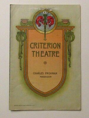 1906 CRITERION THEATRE Program BACHELOR'S BABY Fashion Perfume  Corsets 28 pgs