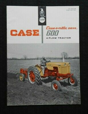 Genuine 1958 Case 600 Series 4-plow Case-o-matic Tractor Catalog Brochure Nice