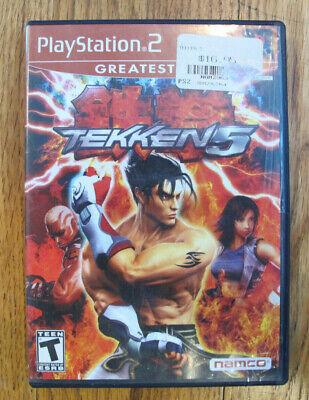Tekken 5 (Sony PlayStation 2, 2005) - Tested - Free Shipping