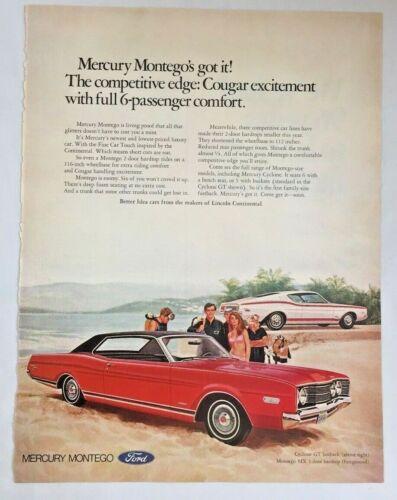 1968 Paper Advertisement Mercury Montego Cyclone GT Fastback Car Print Ad 3423F
