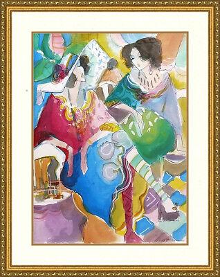 Rust and Stardust \u2042 Mixed Media Portrait Fine Art Print