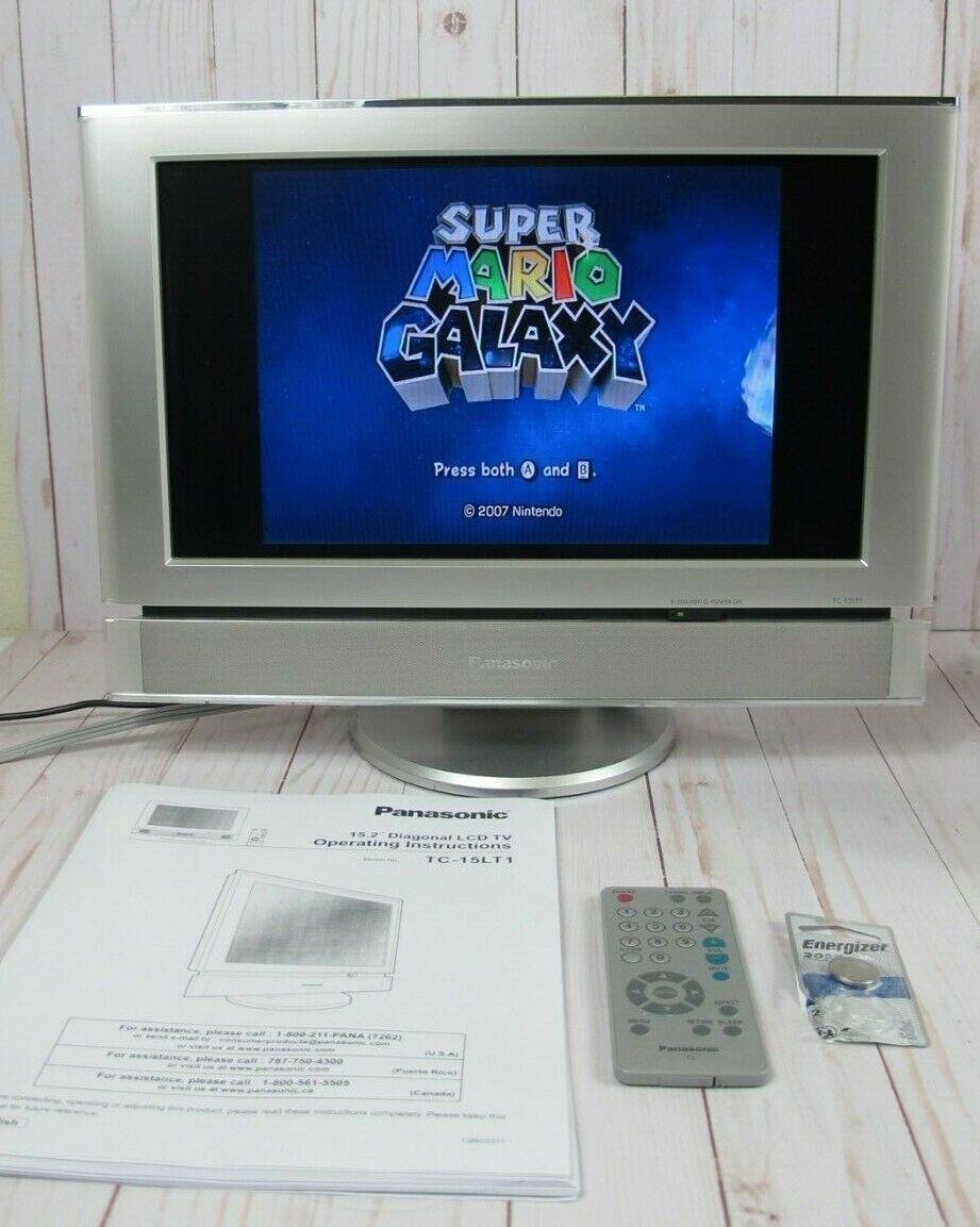 "Panasonic LCD TV Monitor 15.2"" TC-15LT1 ~ Great Condition!"