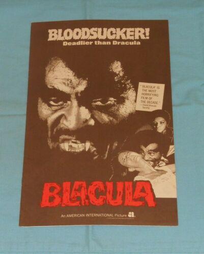 original BLACULA PRESSBOOK William Marshall Vonetta McGee Elisha Cook