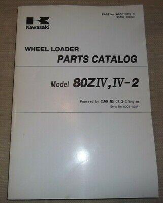 Kawasaki 80ziv 80ziv-2 Wheel Loader Parts Catalog Book Manual Sn 80c3-5301-up