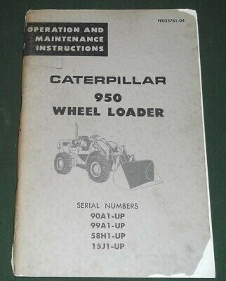 Cat Caterpillar 950 Wheel Loader Operation Maintenance Manual 90a 99a 58h 15j