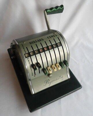 Vintage Paymaster Check Imprinting Machine X-2000 - Tested No Key