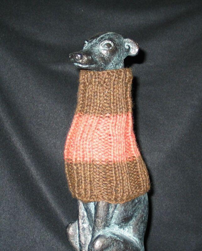 Brown & Orange Italian Greyhound Dog Snood 2 wear w/ dog coat *100% Donation