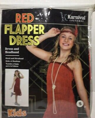KID'S COSTUME - KARNIVAL, FLAPPER DRESS RED Small 3-4 Years Old](Kids Flapper Costume)