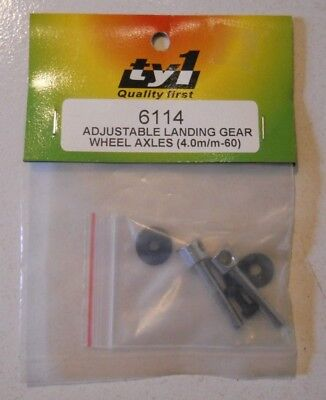 TY1 Adjustable Landing Gear Wheel Axles R/C Aircraft (4.0mm-60)
