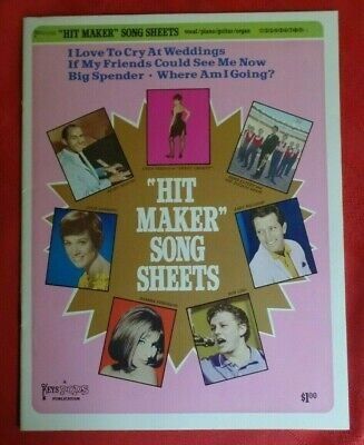 Vintage Gwen Verdon Barbara Streisand Hit Maker Song Sheets Sheet Music w/Photos - Music Maker Song Sheets