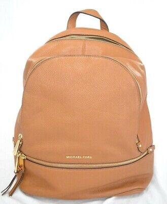 Michael Kors Rhea Luggage Leather Pebbled Backpack $358.00 #917STWIND