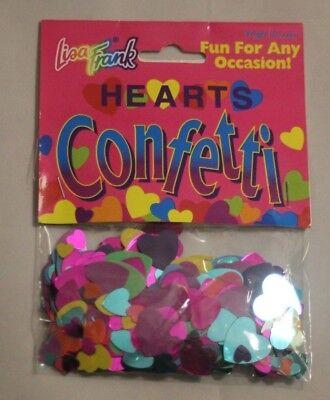 Lisa Frank Hearts Confetti Vintage Colorful Table Spread Scrapbooking Crafts NIP - Scrapbook Table