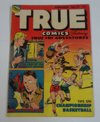 True Comics #75 (1st Print) 5.0 VG/FN 1949