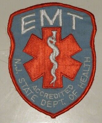 New Jersey EMT Accredited Emergency Medical Technician Patch Health Dept Unused