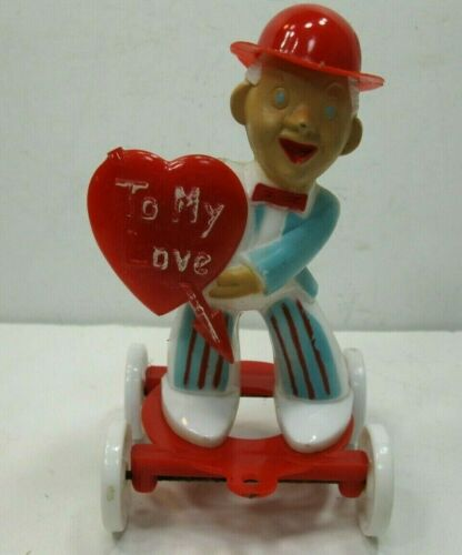 Rosbro / Rosen Valentine Man Candy Container Pull Toy To My Love Vintage RARE