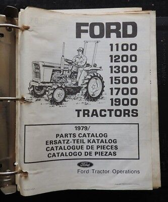 79-82 Ford 1100 1200 1300 1500 1700 1900 Tractor Parts Manual Catalog In Binder