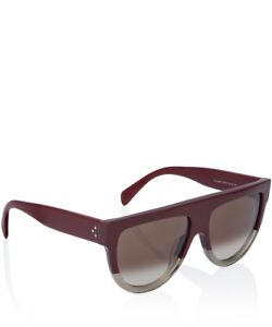 Celine Shadow Sunglasses Burgundy