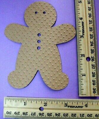 Paper Gingerbread Man ((8) lrg. textured GINGERBREAD MAN paper die cut embellishment (10 ships)