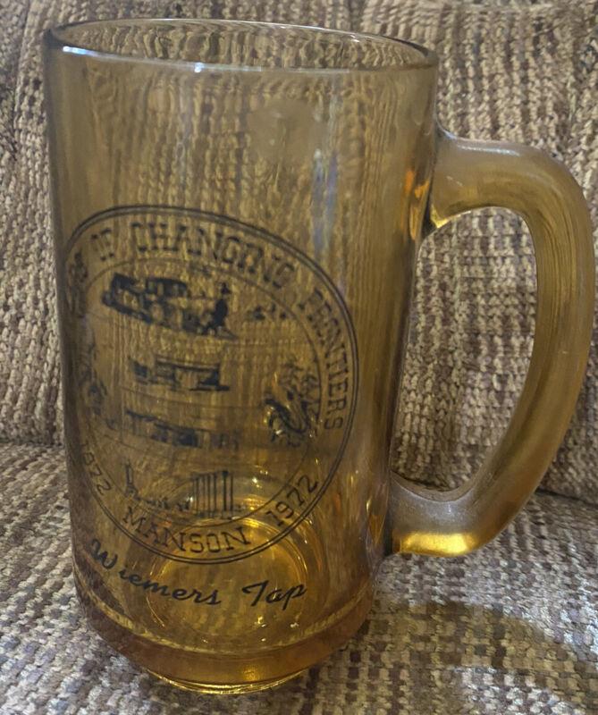 Vintage Manson, Iowa Wiemers Tap Centennial Mug. 1872 - 1972